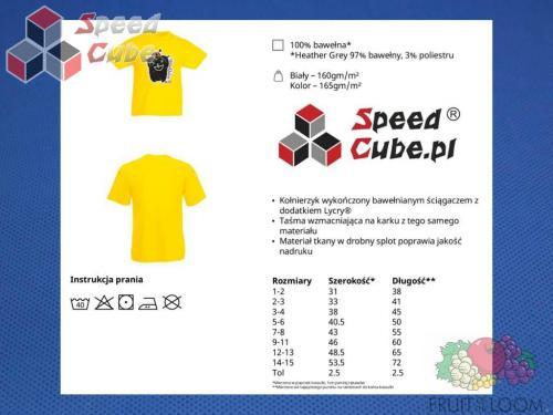 Koszulka z nadrukiem 1 Rozm. 152/12-13 lat Żółta