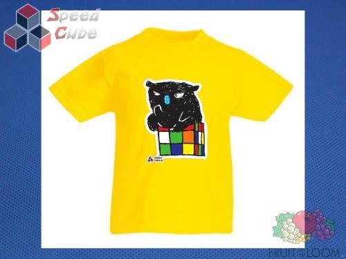 Koszulka z nadrukiem 3 Rozm. 152/12-13 lat Żółta