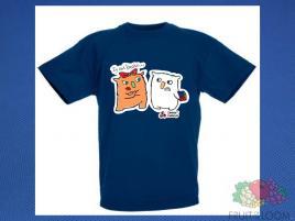 Koszulka z nadrukiem 7 Rozm. 152/12-13 lat Granatowa