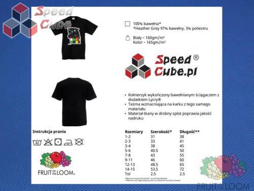 Koszulka z nadrukiem 3 Rozm. 164/14-15 lat Czarna