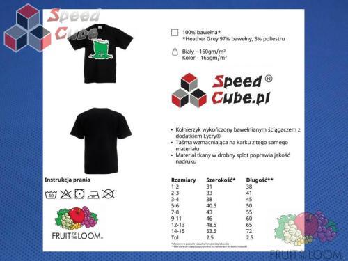 Koszulka z nadrukiem 9 Rozm. 164/14-15 lat Czarna