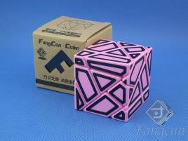 FangCun Ghost Cube Pink Body Black Hollow Stick.