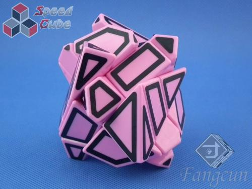 FangCun Ghost Cube Pink Body Black Hollow Stick.
