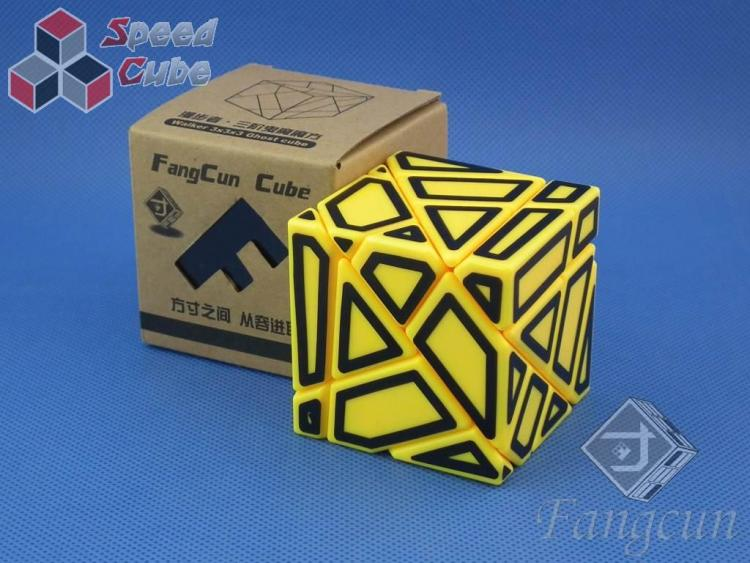 FangCun Ghost Cube Yellow Body Black Hollow Stick.