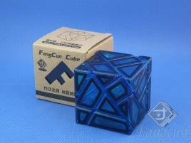 FangCun Ghost Cube Blue Transparent Body Black Hollow Stick.