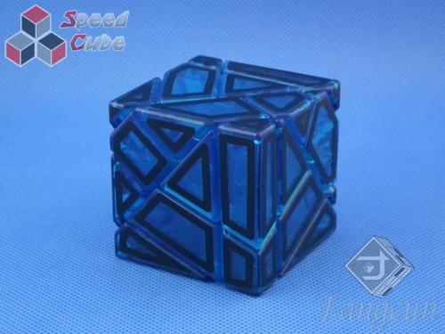 FangCun Ghost Cube Blue Transparent Body Black Hollow Stick.