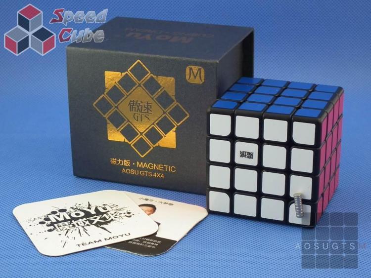 MoYu AoSu GTS 4x4x4 Czarna Magnetyczna
