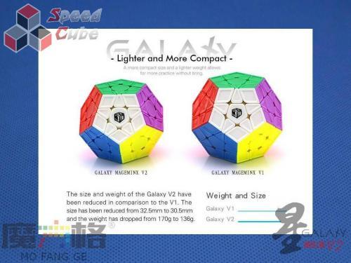 MoFangGe Megaminx GalaXy V2 Concave Czarna