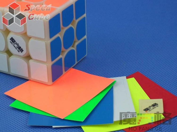 Naklejki 3x3x3 Thunder Clap QiYi Fluo Oryginalne
