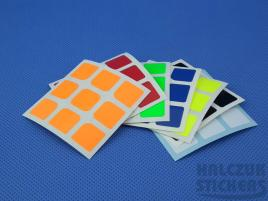 Naklejki 3x3x3 Halczuk Stickers AoLong Dark Blue