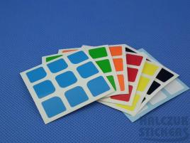 Naklejki 3x3x3 Halczuk Stickers HuaLong Half Bright