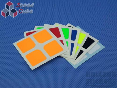 Naklejki 2x2x2 Halczuk Stickers Florian Mini Fluo Dark Blue