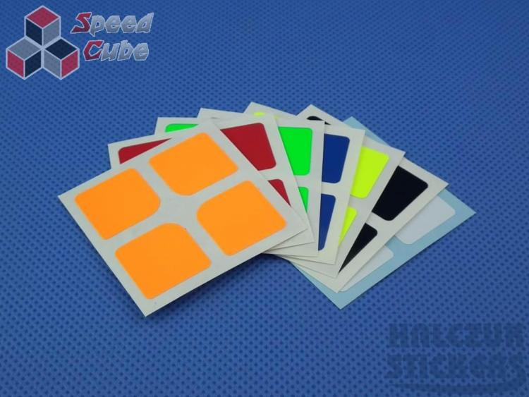 Naklejki 2x2x2 Halczuk Stickers Florian Mini Fluo Dark Blue