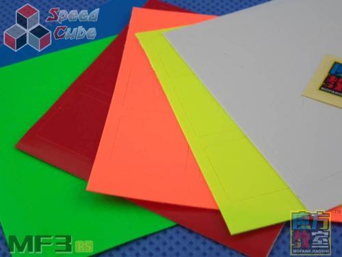 Naklejki 3x3x3 MF3RS MoYu Fluo Oryginalne