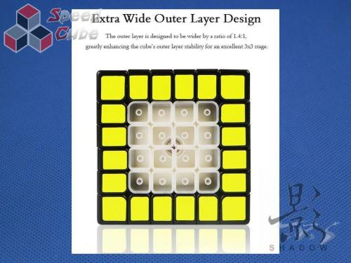 MoFangGe X-Man Design 6x6x6 Shadow Czarna