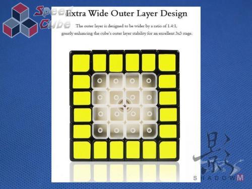 MoFangGe X-Man Design 6x6x6 Shadow Magnetic Kolorowa