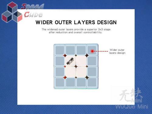 MoFangGe QiYi 4x4x4 WuQue Mini Czarna