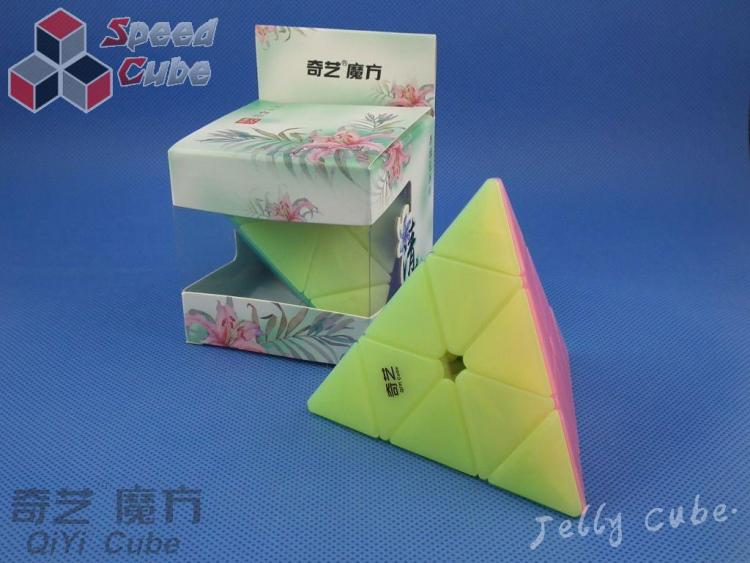 MoFangGe QiYi Pyraminx QiMing Transparent Jelly