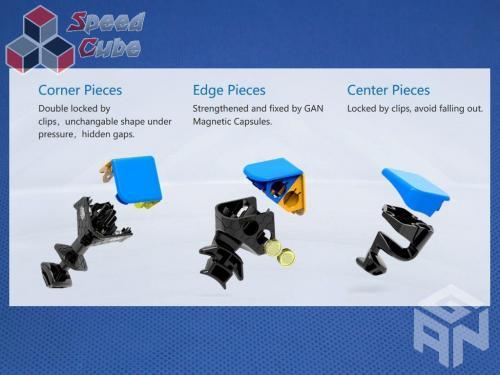 Gans GAN460 Magnetyczna 4x4x4 Czarna