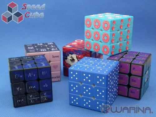 Warina 3x3x3 Blind Fingerprint UV Blue