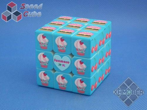 XhmQbe 3x3x3 Candy Cube Blind UV Blue