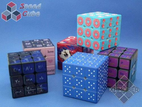 XhmQbeR 3x3x3 Candy Cube Blind UV Blue