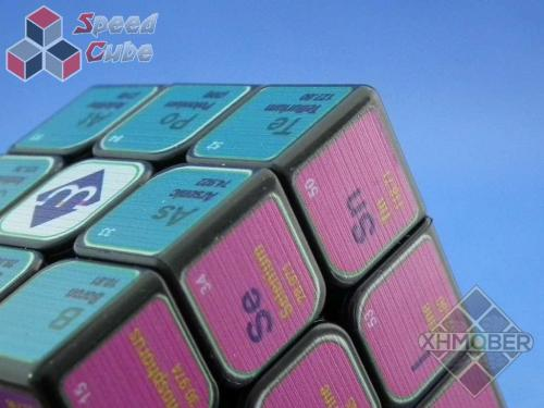 XhmQbe 3x3x3 Chemistry Cube UV Printing Black