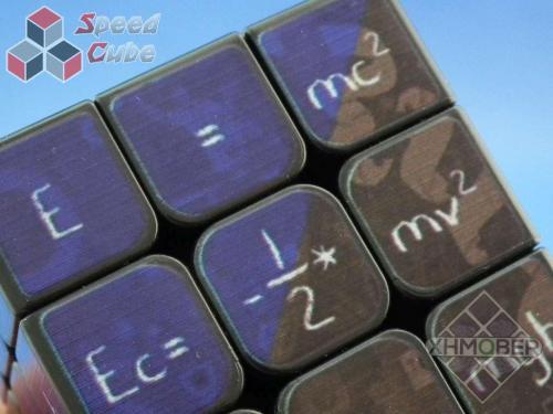 XhmQbeR 3x3x3 Mathematics Cube UV Printing Black