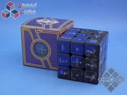 XhmQbe 3x3x3 Mathematics Cube UV Printing Black