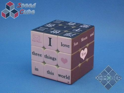 XhmQbe 3x3x3 Chinese-English learning UV Printing Black