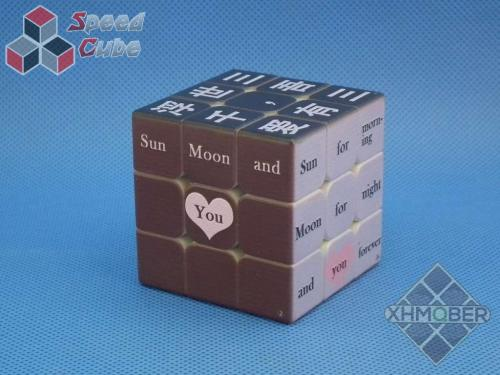 XhmQbeR 3x3x3 Chinese-English learning UV Printing Black