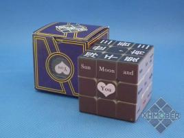 XhmQbe 3x3x3 Chinese-English UV Blind Black