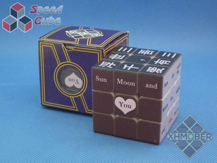 XhmQbe 3x3x3 Chinese-English learning UV Printing Black