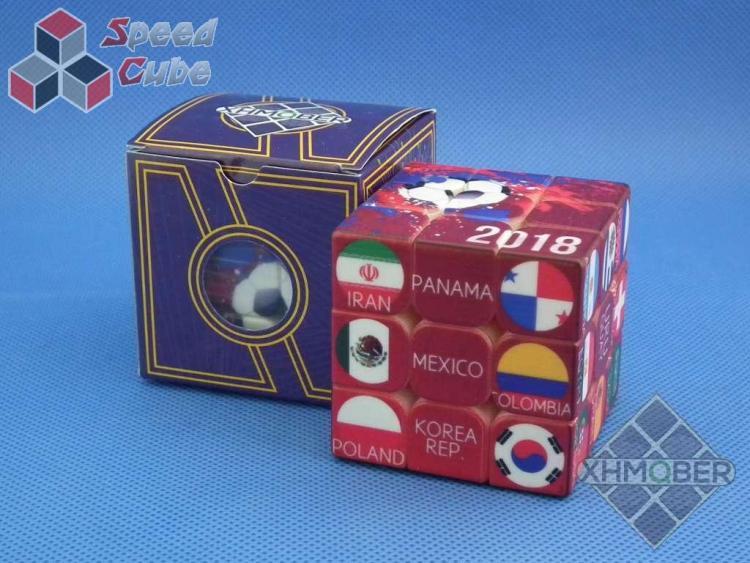 XhmQbe 3x3x3 Football Cube UV Printing