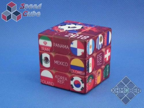 XhmQbe 3x3x3 Football Embossing Cube UV Printing