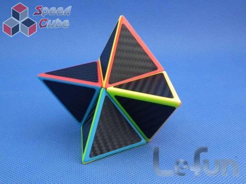 LeFun Pyraminx 2x2 Kolorowa Carbon Stick.