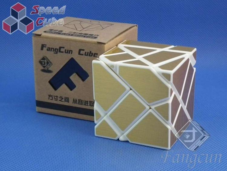 FangCun Ghost Cube White Body Yellow Stick.