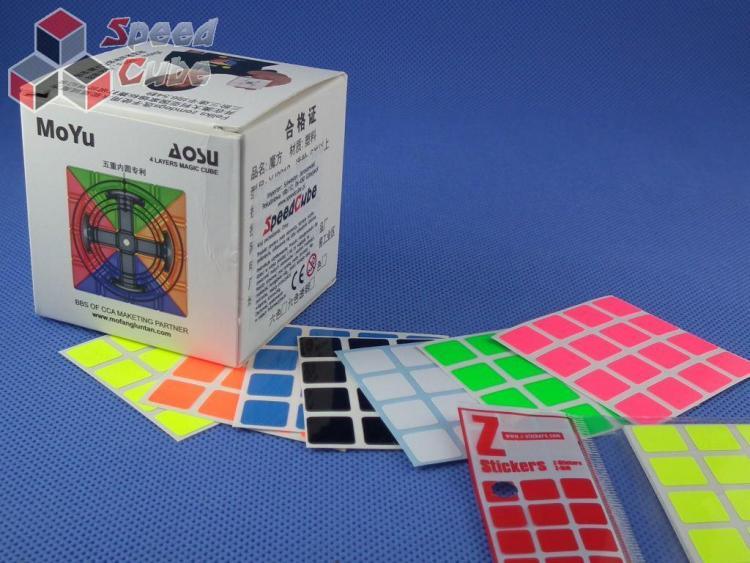 Naklejki 4x4x4 Z-Stickers MoYu AoSu Full Bright