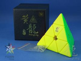 YuXin HuangLong Pyraminx Magnetic Kolorowa Bright Red