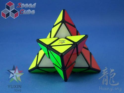 YuXin HuangLong Pyraminx Magnetic Black