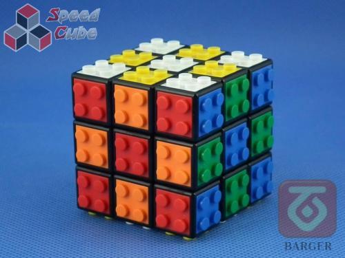 Barger 3x3x3 Kostka - klocki Czarna Baza