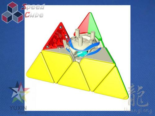 YuXin HuangLong Pyraminx Magnetic Kolorowa Dark Red