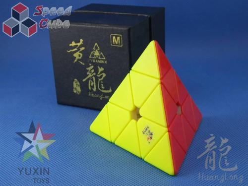 YuXin HuangLong Pyraminx Magnetic Kolorowa Dark Red
