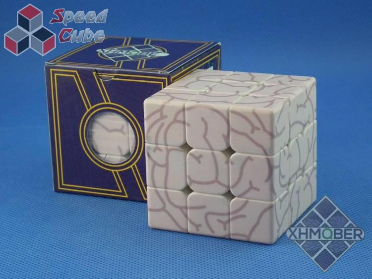 XhmQbeR 3x3x3 Brain UV Pink