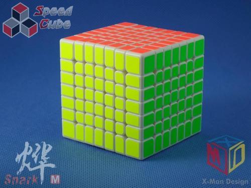 MoFangGe X-Man Design 7x7x7 Spark M Biała