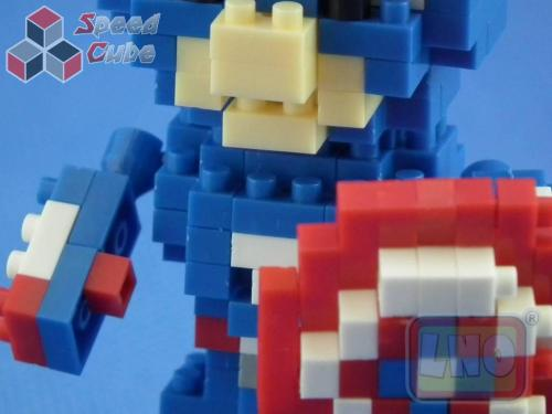 Puzzle 3D Nano Blocks Captain America 024