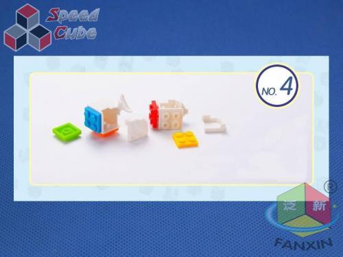 FanXin 3x3x3 Kostka - DIY klocki Biała Baza