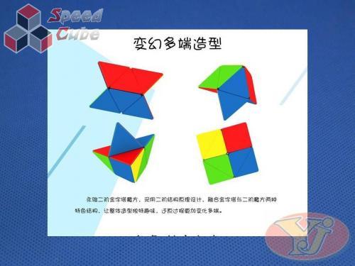 YongJun Pyraminx 2x2x2 Kolorowa