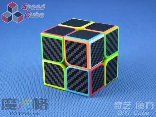 QiYi Carbon Fiber 2x2x2 Kolorowa