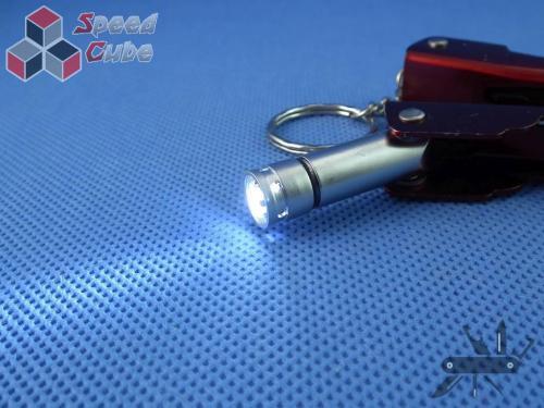 Multitool stalowo 6w1 brelok z latarką - 68 mm